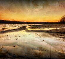 Textured Beach Sunset by John Davenport