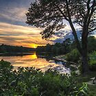 The Sunset over Hopedale Pond by John Davenport