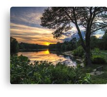 The Sunset over Hopedale Pond Canvas Print