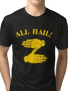 All Hail Zoltan Gold Tri-blend T-Shirt