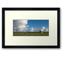Clouds & Cows Framed Print