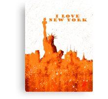 I LOVE NEW YORK - Color Orange Canvas Print