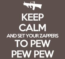 Starkid: Keep calm and set your zappers to pew pew pew (white) Kids Clothes