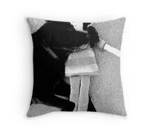 Heavy Dog Throw Pillow