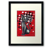 Ska Cat Framed Print