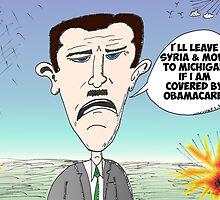 Binary Options News caricature of Bashar Assad by Binary-Options