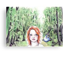 Red Headed Girl Canvas Print