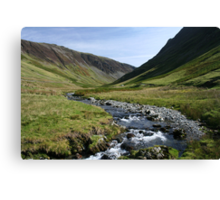 Water Flow through Honister Pass Canvas Print