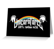 UnicornForce 100% Rainbow Metal Greeting Card