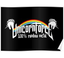 UnicornForce 100% Rainbow Metal Poster