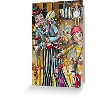 Puppeteers Greeting Card
