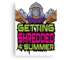 Shredder - Getting Shredded 4 Summer Canvas Print