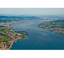 Lake Zurich from a plane. Photographic Print