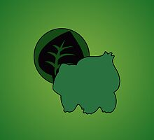 Pokemon - Bulbasaur Leaf iPhone / iPod Cover by Aaron Campbell