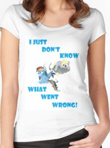 Derpy's gonna Derp - Poor Rainbow Dash Women's Fitted Scoop T-Shirt