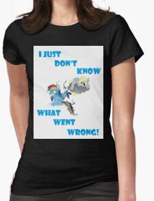 Derpy's gonna Derp - Poor Rainbow Dash Womens Fitted T-Shirt