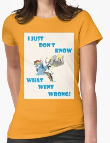 Derpy's gonna Derp - Poor Rainbow Dash Womens Fitted T-Shirt