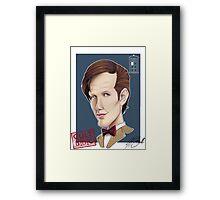 CULT BBC - The DR (Matt Smith) Framed Print