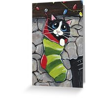 Stocking Surprise Greeting Card