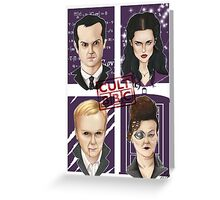 CULT BBC - The Villians Greeting Card