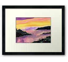 Seascape--On The Rocks. Framed Print