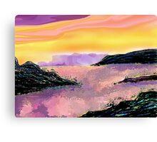 Seascape--On The Rocks. Canvas Print