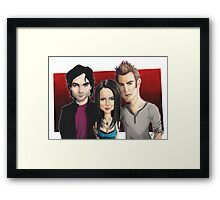 Vampire Diaries  - Caricature Framed Print