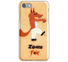 Zombie Fox Stencil Graffiti. iPhone Case/Skin