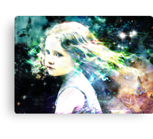 i will give you all the rainbows ,the birds and stars  Canvas Print