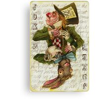 Mad Hatter Joker Card Canvas Print