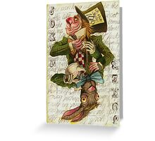 Mad Hatter Joker Card Greeting Card