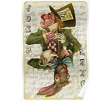 Mad Hatter Joker Card Poster