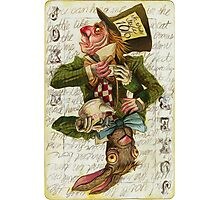 Mad Hatter Joker Card Photographic Print