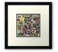 PUNK GIG COLLAGE Framed Print