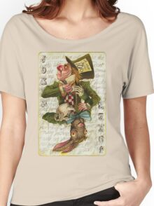 Mad Hatter Joker Card Women's Relaxed Fit T-Shirt