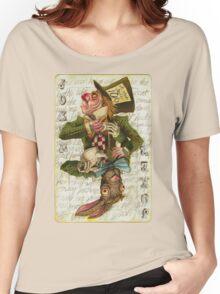 Mad Hatter Joker Card Women's Relaxed Fit T-Shirt
