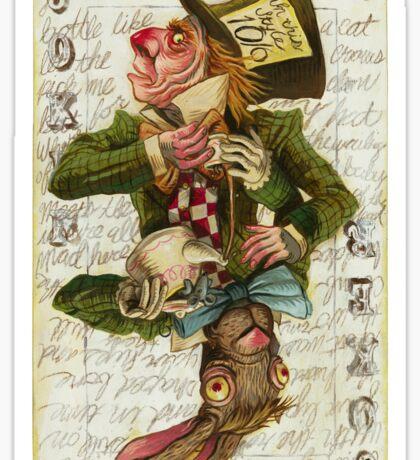Mad Hatter Joker Card Sticker
