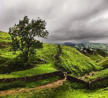 At The Top Of Cavedale by Darren Burroughs