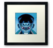 blue Frankenstein Framed Print