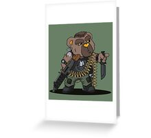 SNUGZ (OD Green) Greeting Card