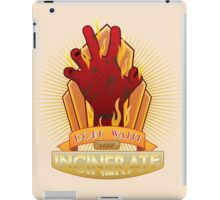 Incinerate Plasmid iPad Case/Skin