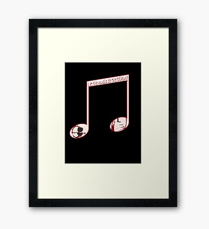 Music speaks volumes Framed Print