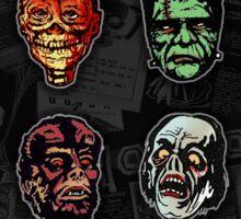 Horror Movie Monster Masks (color) Sticker