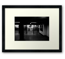 no one is there Framed Print