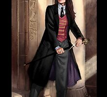 Knight of Wands Steampunk Tarot by Barbara Moore