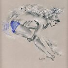 Tom Daley - sketch drawing by Paulette Farrell