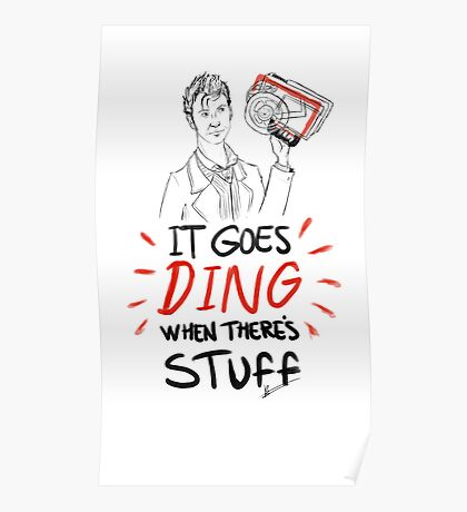 It goes ding when there's stuff Poster