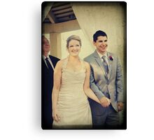 Presenting the Newlyweds Canvas Print