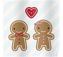 Cookie Cute Gingerbread Couple Poster