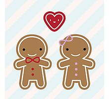 Cookie Cute Gingerbread Couple Photographic Print